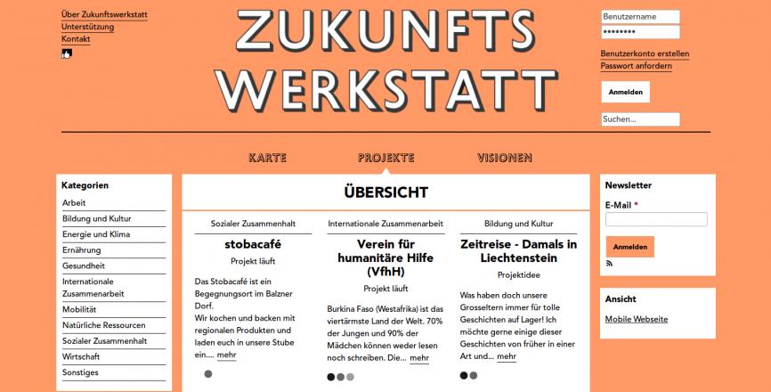 Zukunftswerkstatt Verein Symbiose Elias Kindle Michaela Hogenboom Nachhaltigkeit Liechtenstein zukunftswerkstatt.li