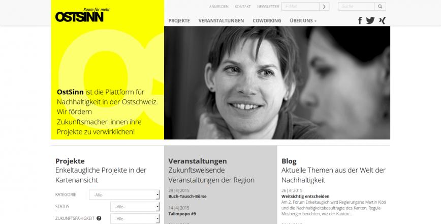 Ostsinn Raum für mehr St.Gallen Schweiz Plattform für Nachhaltigkeit Drupal ostsinn.ch
