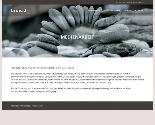 Richard Brunhart Kommunikation Vaduz Liechtenstein Politische Analyse Medienarbeit Videoproduktion www.bruva.li