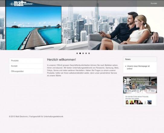 Matt Electonic Mauren Liechtenstein Fachgeschäft für Unterhaltungselektronik www.matt-electronic.li