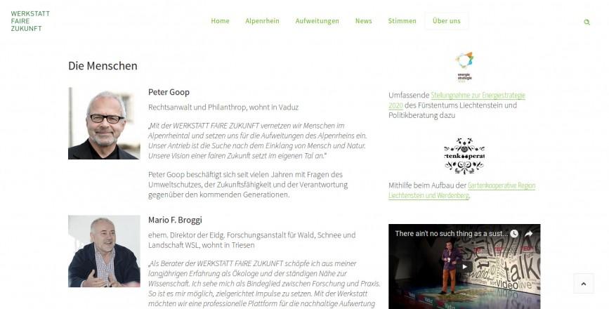 Werkstatt Faire Zukunft, Vaduz, Rheinaufweitungen, Peter Goop, fairezukunft.org